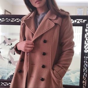 Camel Wool Trench Coat - H&M
